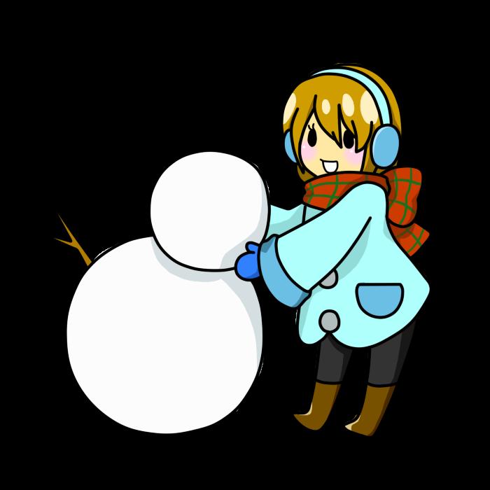 雪だるま作り01